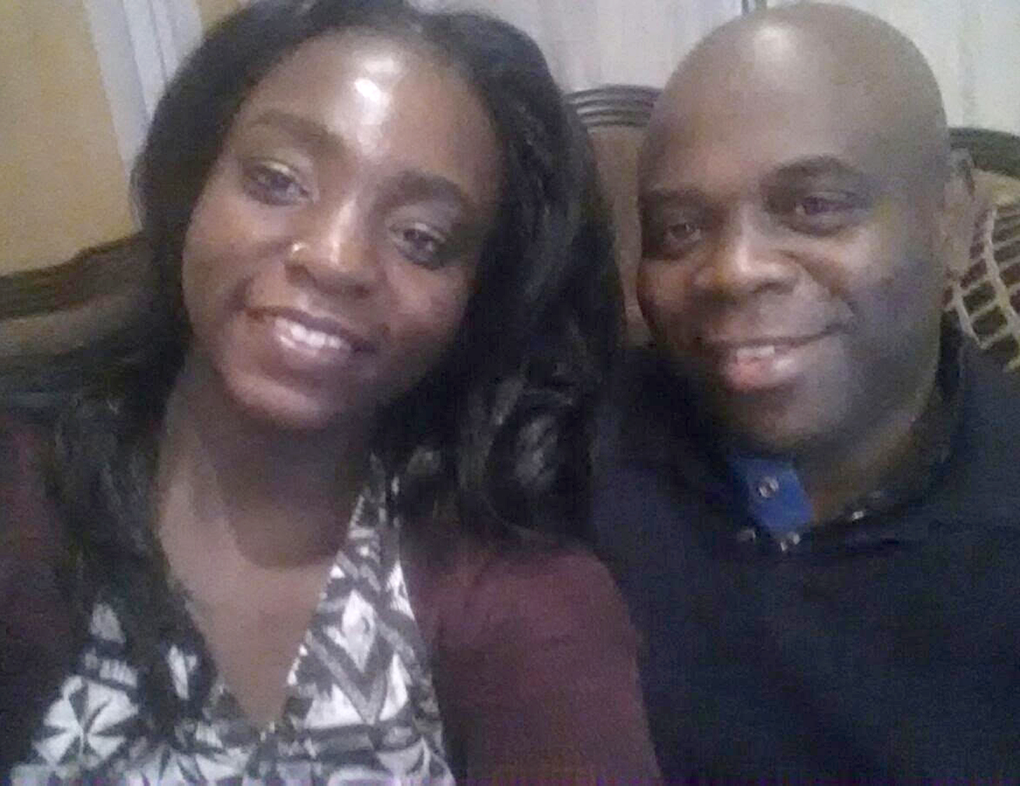 Louisa Akoto and her father