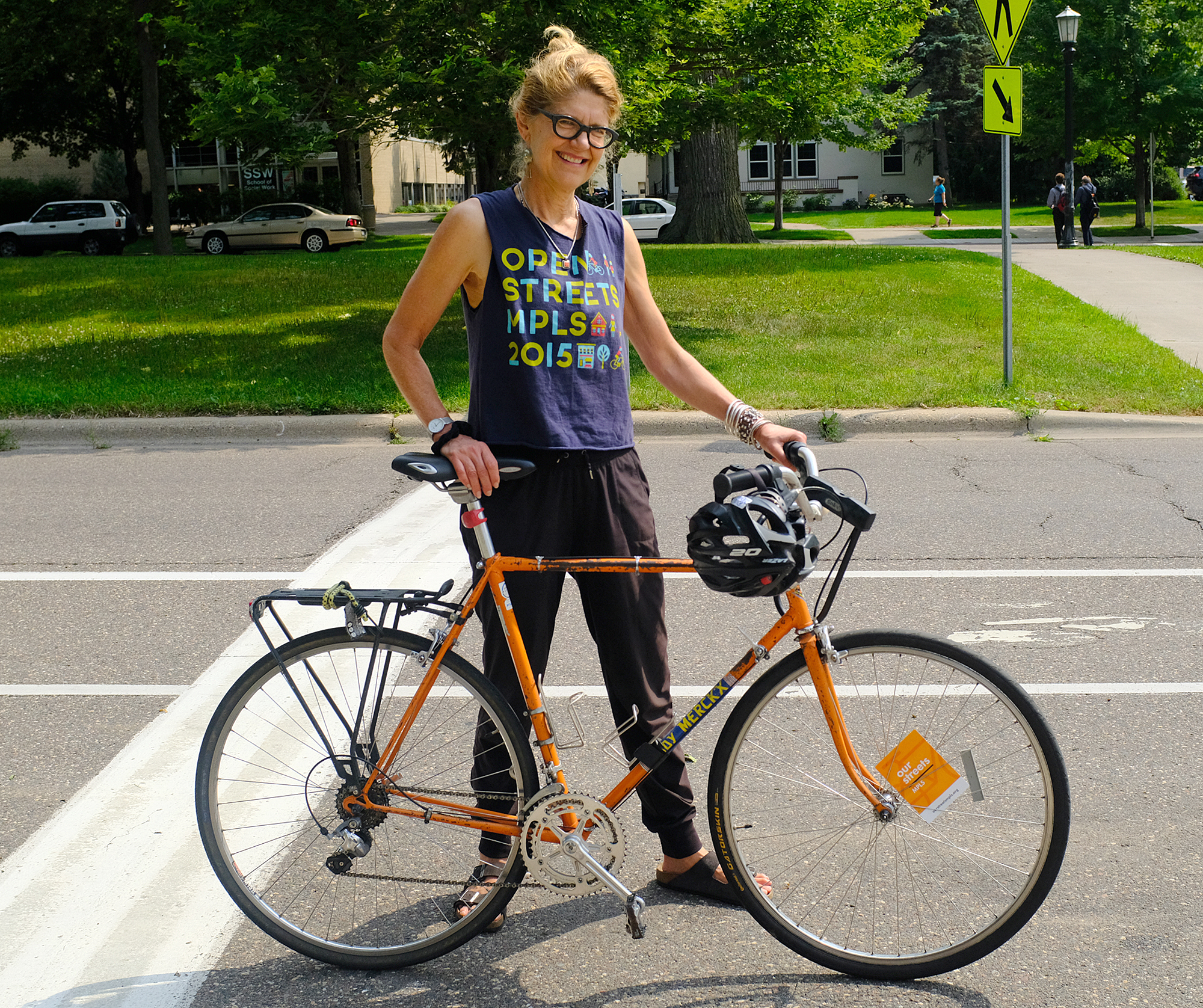 Anne Knauff, 63, is a veteran volunteer at Open Streets events.