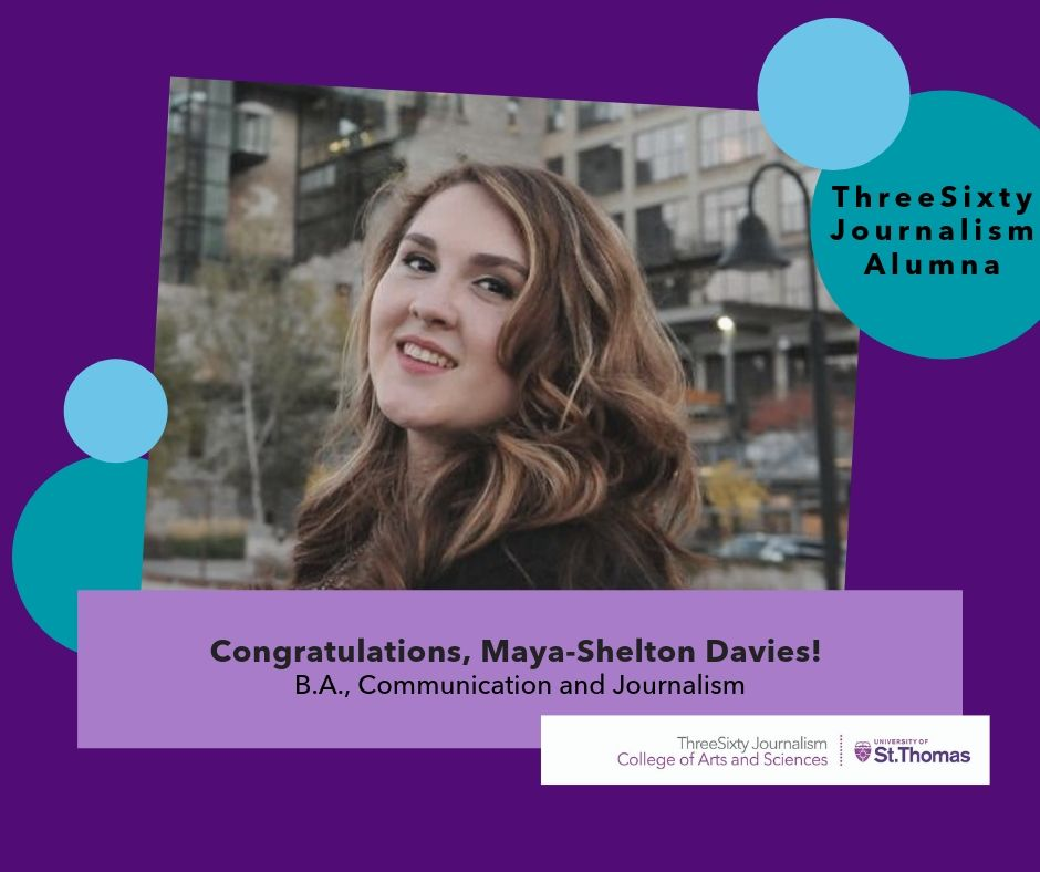 Maya Shelton-Davies 2019 St. Thomas Graduation Graphic and Photo