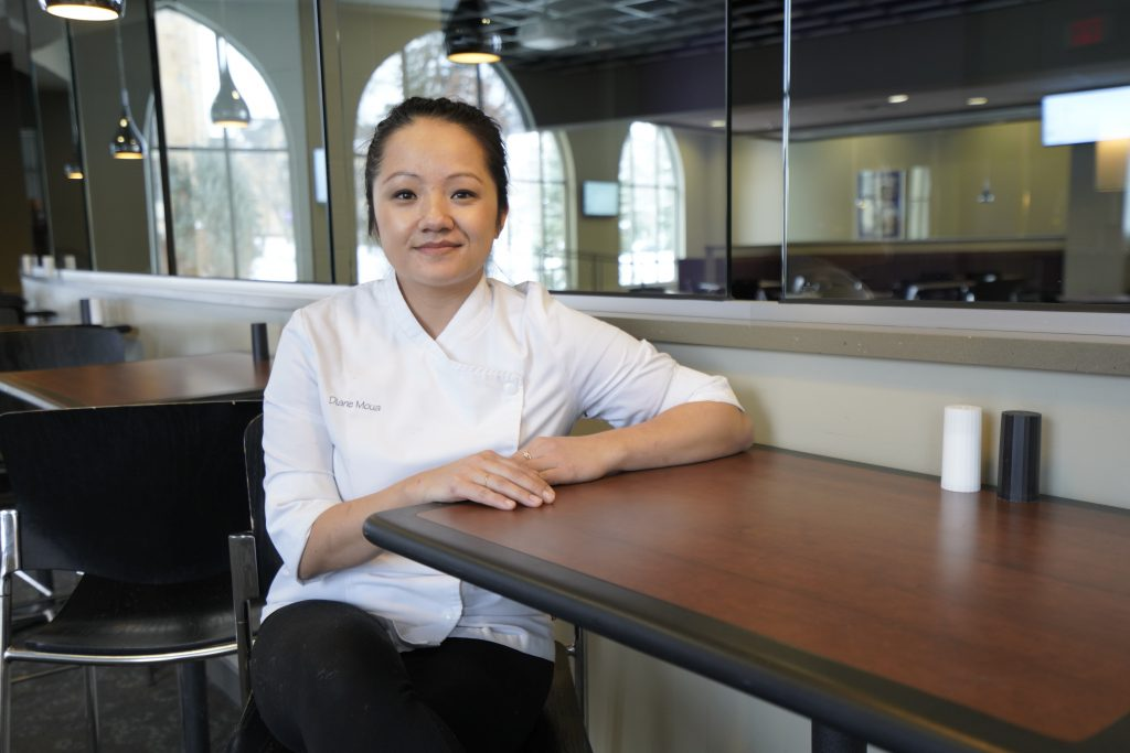Moua is an executive pastry chef at three of Minnesota's premier restaurants: Demi, Bellecour, and Spoon and Stable. Moua has two children: a son in college and a daughter in high school. (ThreeSixty Journalism/Dymanh Chhoun)