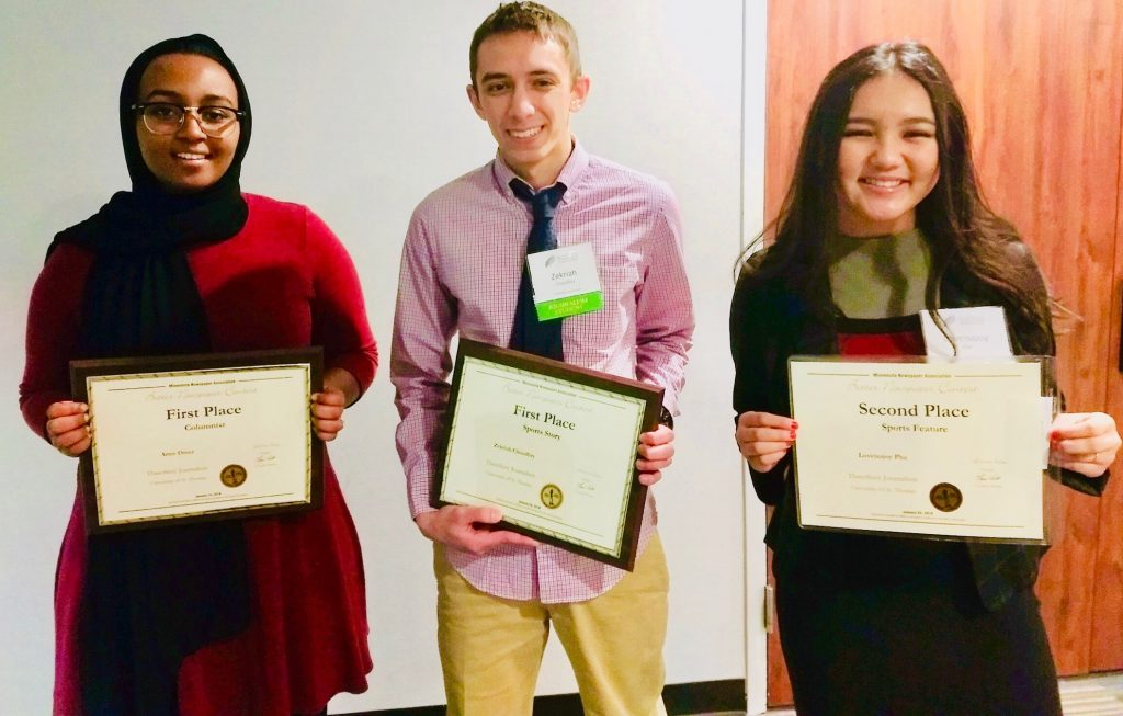 ThreeSixty students win newspaper awards.