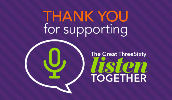 Thank you for a supporting The Great ThreeSixty Listen Together
