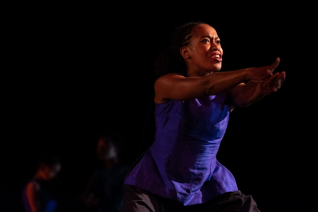 "Dr. Alessandra Williams performs in Ananya Dance Theatre's 2018 performance titled ""Shaatranga: Women Weaving Worlds."" (Courtesy Randy Karels)"