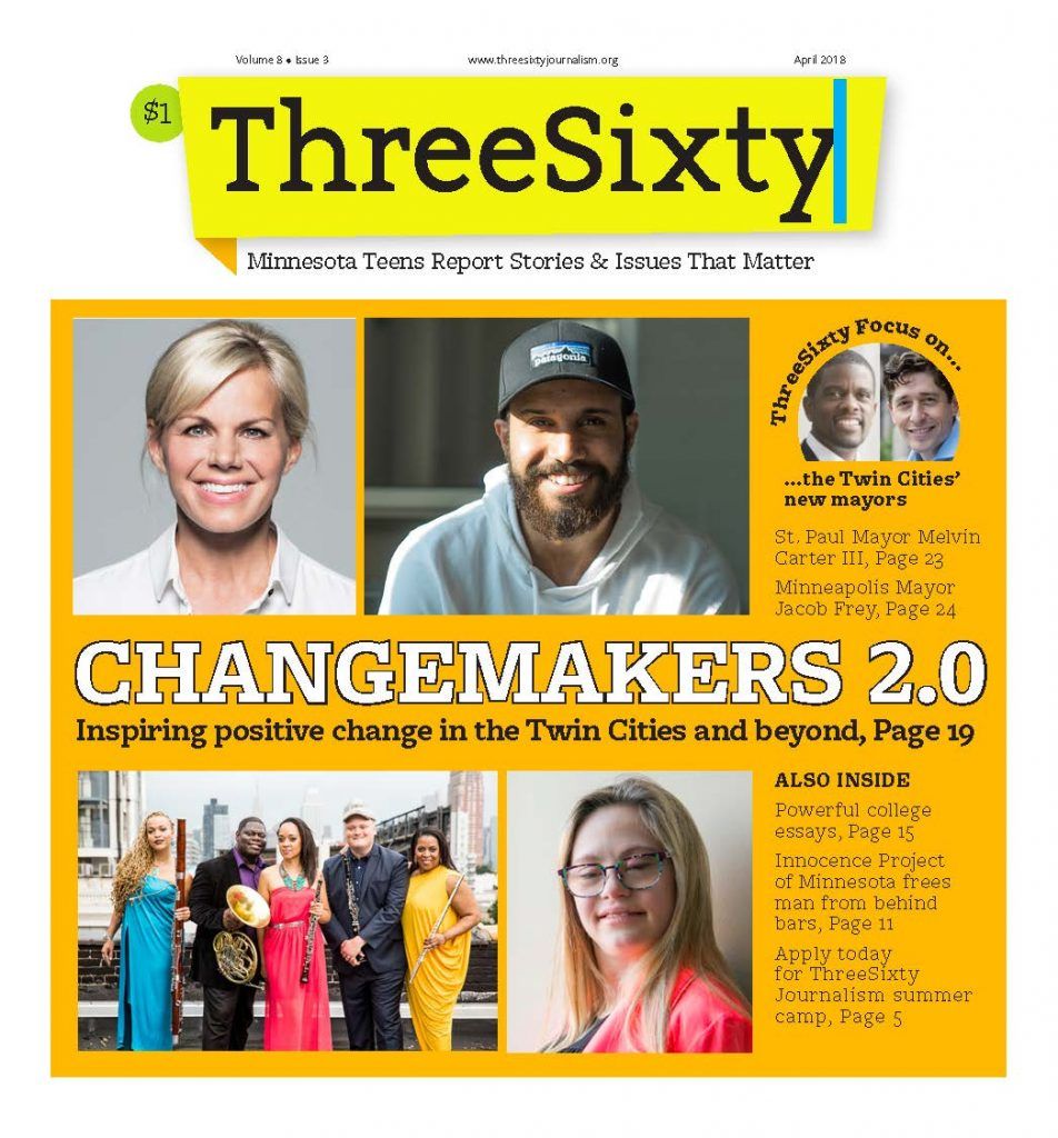 ThreeSixty April 2018 Magazine cover