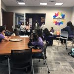 Cristo Rey students met with the Student Diversity and Inclusion Services staff to learn about how they support students of color at St. Thomas.