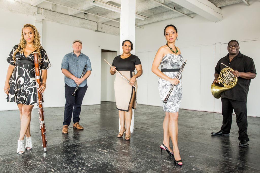 Grammy-award winning wind quintet Imani Winds has carved out a unique lane in classical music with its diverse sounds and perspectives. The group has four albums. (Photo courtesy of Imani Winds)