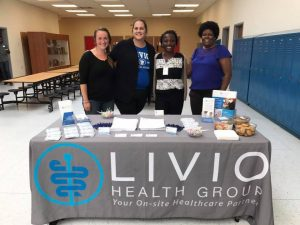 Livio Health Group staff meet with youth at Minnesota Transitions Charter school.