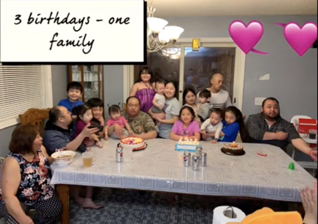 Nalani Vang shares a photo of her family in her video diary showing what it's like to have three generations living under one roof during the pandemic. (ThreeSixty/Nalani Vang)