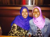 Sagal Abdirahman and her mother