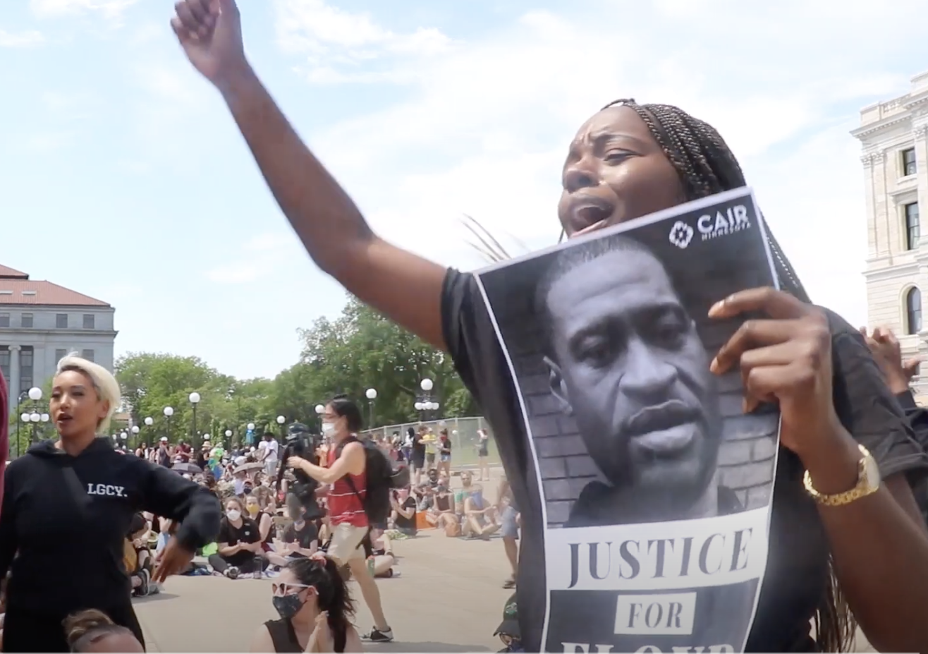 Young people gathered at the Capitol in May to demand justice for George Floyd, who died at the hands of Minneapolis Police. (ThreeSixty Journalism/Aaliyah Demry)