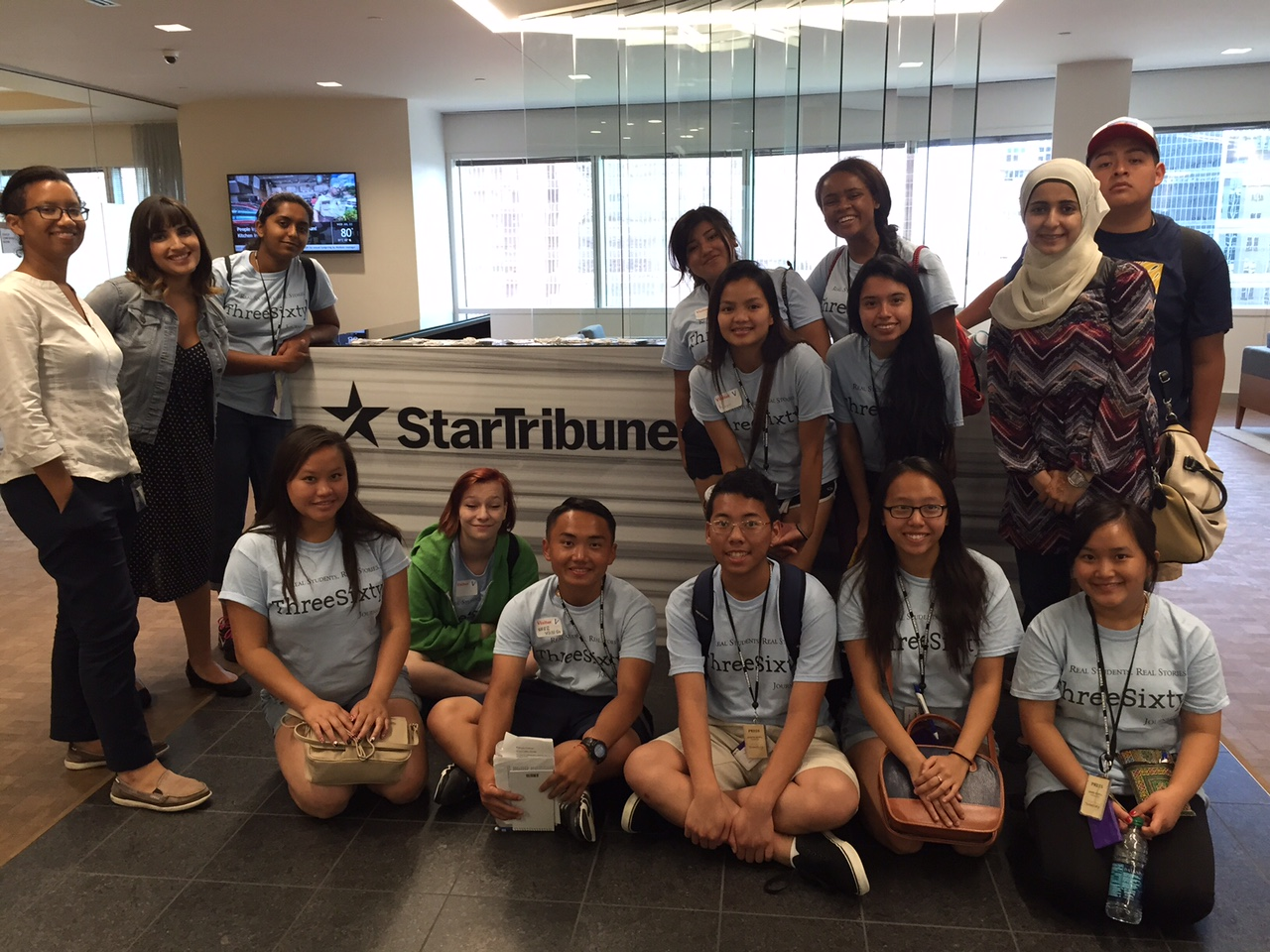 ThreeSixty Summer Camp students at the Star Tribune office