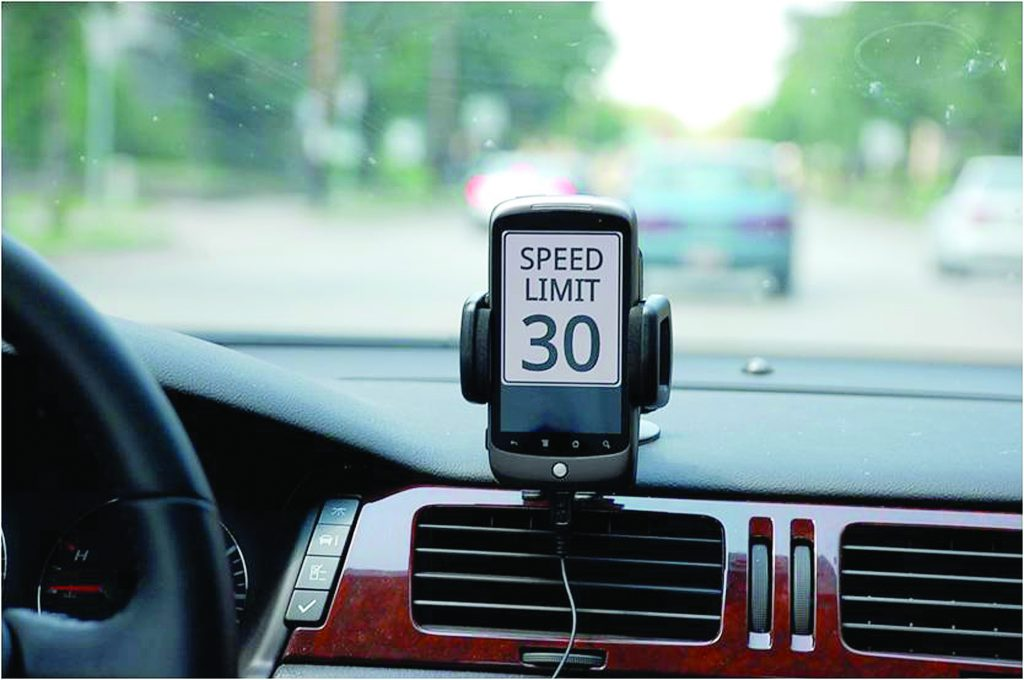 The Teen Driver Support System gives teenage drivers a speed limit to follow on roads. (Photo provided)