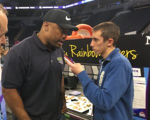 Everson Griffen talks with Zekriah Chaudhry.